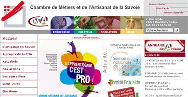 Le portail des artisans de savoie - Chambre des metiers savoie ...